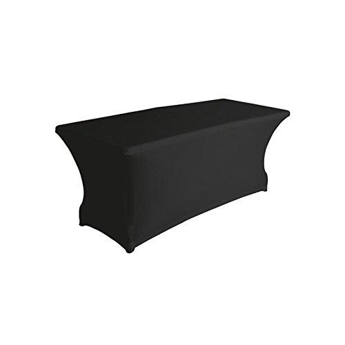 Housse extensible pour table rectangulaire - Noir
