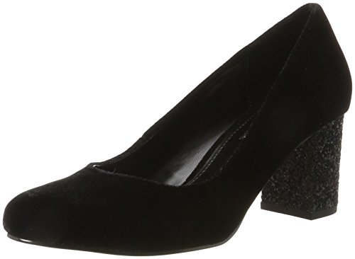 Buffalo Shoes Damen C404B-1A S0026 Velvet Pumps, Schwarz (Black134), 39 EU