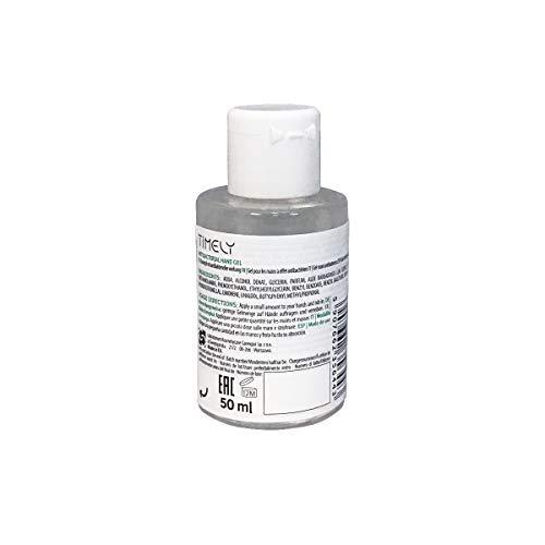 Timely -  Gel de manos antibacteriano con aloe,  tamaño de viaje (pack de 4 x 50 ml)