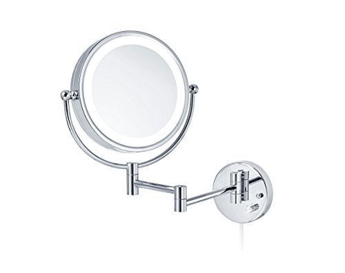 Nicol Katja LED Wandspiegel 4026100 Kosmetikspiegel Dimmerfunktion 3 7-Fach Vergrößerung,...