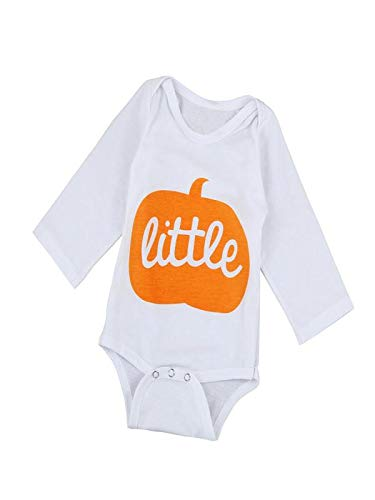 (SEWORLD Baby Halloween Kleidung,Niedlich Infant Baby Jungen Mädchen Halloween Kürbis Langarm Strampler Jumpsuit Kleidung 3 Monate)