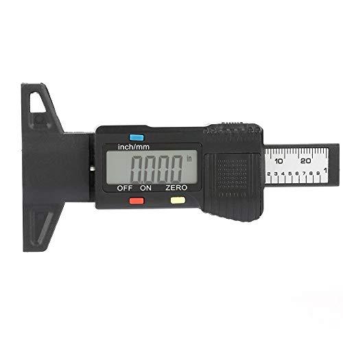 Akozon Profiltiefenlehre Digitale Profiltiefenlehre Reifengewindetester Manometer mit LCD-Display