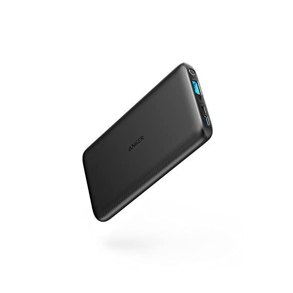 Anker PowerCore Lite 10000mAh Compact Power Bank, Powerful External Battery, Thin and Compact, for iPhone XS Max/XR/XS/X/8/8Plus/7/6S/6Plus, iPad, Samsung Galaxy and Many More 31lUdasf8wL