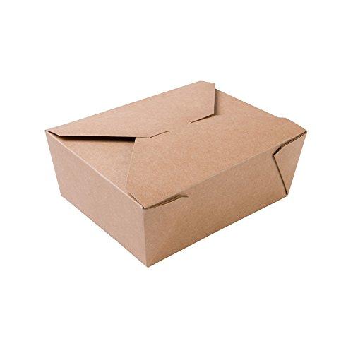 Biozoyg contenitore per alimenti da asporto i scatola per alimenti con coperchio pieghevole 1150 ml i scatola di cartone kraft compostabile marrone i 300 vaschette di cartone monouso rettangolari