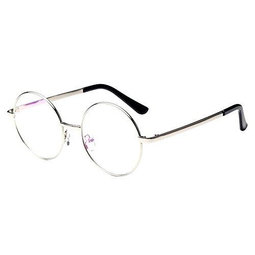 forepinr-vintage-lentille-claire-version-lunettes-monture-ronde-metal-cadre-classic-eyewear-argent