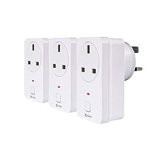 Coosa Wireless Wifi Smart Socket, Handy-Fernbedienung Repeater Stecker, Kontrolle der Geräte überall, Kompatibel mit Alexa und Google Home, weiß
