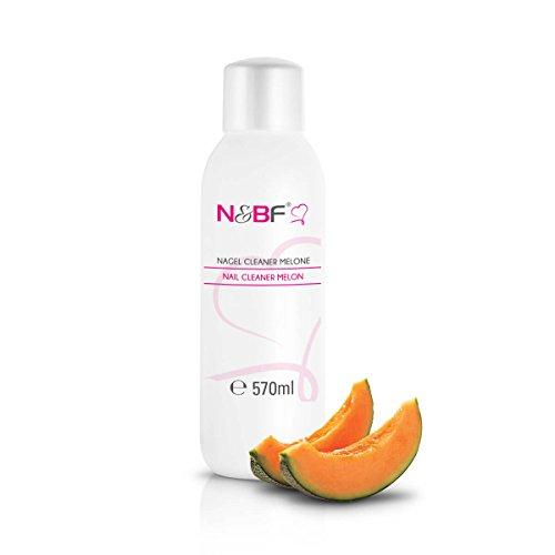 N&BF Nagel Cleaner mit Duft 570ml - für Gelnägel - Nagelreiniger - Nail-Cleaner - 70% Isopropanol-Alkohol kosmetisch rein in Studioqualität zum Entfetten und Reinigen (Melone) (Uv Nail Cleanser)