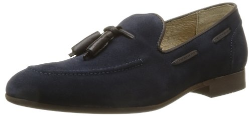 Hudson london pierre - mocassini uomo, blu (navy), 43 eu