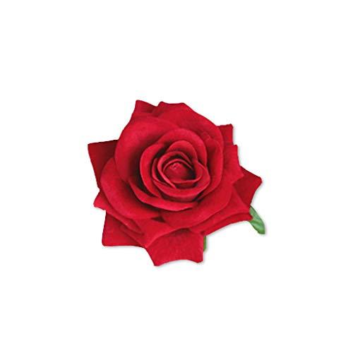 Zerama Kunstseide-Rosen-Blumen-Köpfe für DIY Kopfbedeckung Schuhe Hochzeitsdekoration (Handgelenk Diy Corsage)