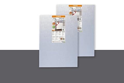 Panneau isolant polystyrène réflecteur, contrecollé alu, 10 mm, 0,8 m x 0,6 m x 10 mm - PRIX SPECIAL 2 panneaux (= 0,96 m2)