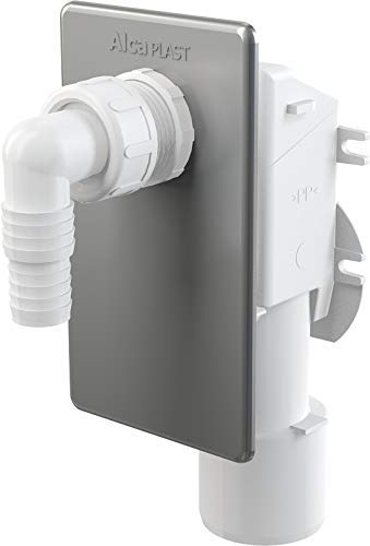 Aquashine® Hochwertiges Unterputzsiphon | APS 3 | Unterputz-Siphon für Waschmaschine | Waschmaschinensiphon | Geruchsverschluss | Waschmaschinenschlauchanschluß | Farbe: chrom