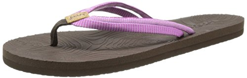 Reef Double Zen, Damen Zehentrenner Sandalen, Violett (Brown/Purple), 38 EU