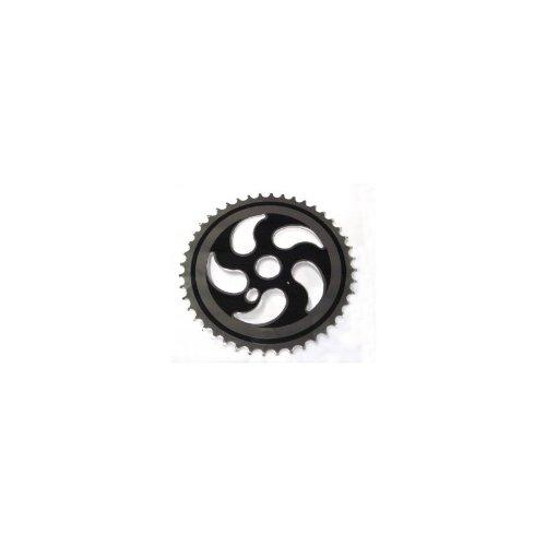 BMX-Kettenblatt Stahl schwarz, 44 Zähne