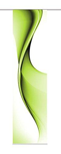 Fashion for home home fashion 86914 774, colore: verde mela, altezza tenda a pannello con stampa digitale bristol seta, tessuto decorativo, 245 x 60 cm