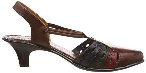 Catwalk Women's Brown Leather Fashion Sandals-5 UK/India (37 EU) (3736BR)