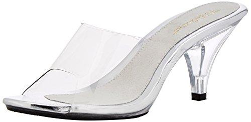 Fabulicious BELLE-301, Damen Offene Sandalen mit Keilabsatz, Transparent (Clr-Tan/Clr), 37 EU (4 UK) (Belle Shoes Bridal)