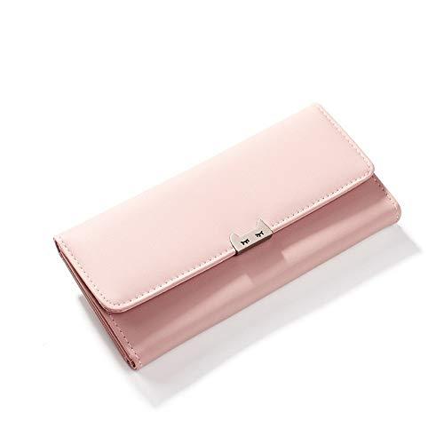 Brieftasche für Damen mit Langer Multi-Card-Position (18,5 * 9,5 cm), 826202 Pink