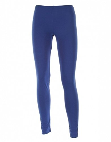Purple Hanger - Legging Femme Jersey Extensible Elastiqué Uni Grande Taille Long Neuf Bleu Marine