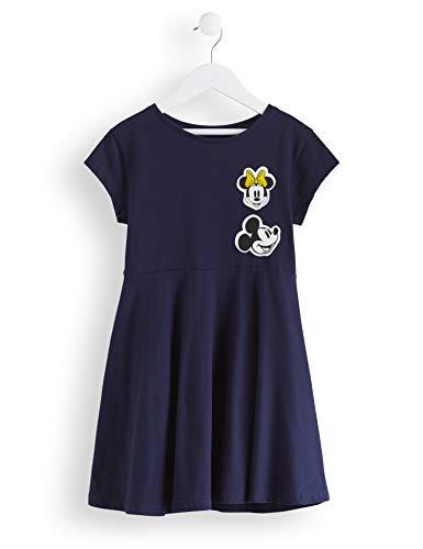 RED WAGON Mädchen Minnie Mouse Dress with Badges Rock, Blau (Navy), 104 (Herstellergröße: 4)