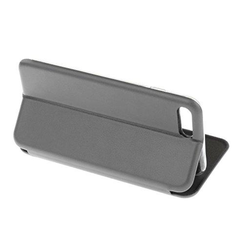 YHUISEN Solid Color Premium-PU-Leder und weicher TPU Gummischutz Mappen-Entwurfs-Flip Folio Case Schutzhülle mit Karten-Slot / Ständer für iPhone 7 plus ( Color : Rose Gold ) Silver