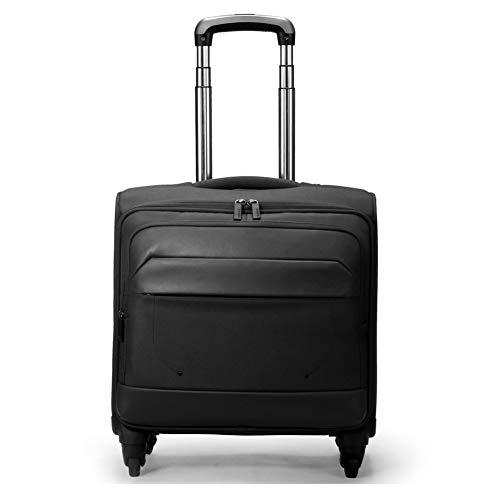 QIUDAN Business Trolley, Polyester Wasserdichte, rollende Multifunktions-Laptoptasche Geeignet für 15,6-Zoll-Computer-Reisegepäck-Black -