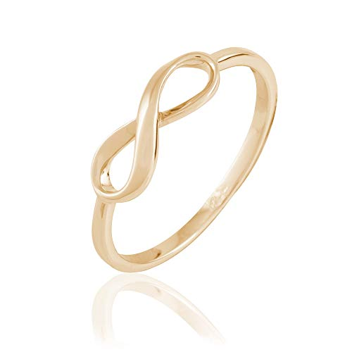 Rendez-vous RueParadis Paris - Feiner Ring Mobius - Infinity Unendlichkeit - 18 Karat Vergoldet 3 Mikron - Glücksbringer Damenschmuck (Authentisch Mens Gold-armband)