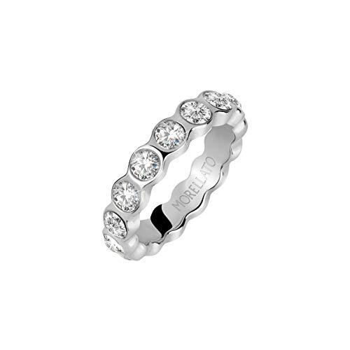 Morellato Anello da donna Collezione Cerchi acciaio cristalli SAKM41018
