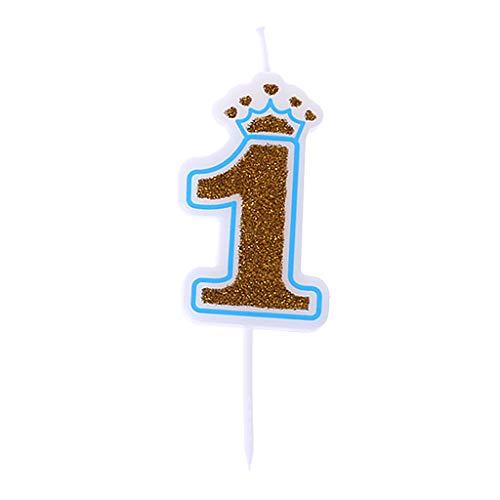 Crown Dekoration Geburtstagskerzen Anzahl Kerzen Happy Birthday Kerzen für Kinder Geburtstagsparty Kuchen Dekor ()