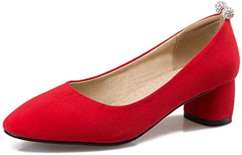 Lsm-Heels Wouomo Block Block Block Heel Pointed Toe Shallow Mouth scarpe   Funzionalità eccellenti  bfc817