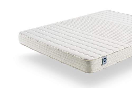 naturalex Matelas 90x190 cm Soft Sensation | Mousse Aero Latex Bi Densité | Mémoire De Forme Thermosoft | 7 Zones De Confort | Hypoallergénique