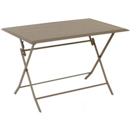 Table pliante rectangulaire Azua - 4 Places - Taupe
