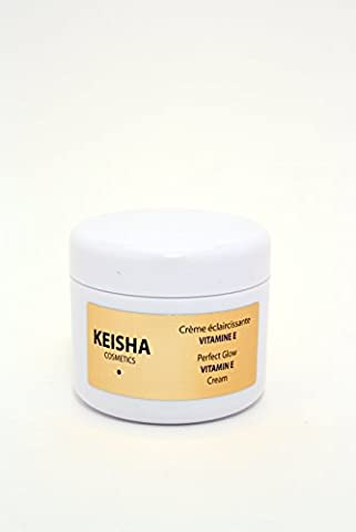 Keisha Made In FRANCE Skin Whitening & Lightening Cream Lotion for Age Dark Spots, Acne Scars, Scars, Stretchmarks & All Round Brighter Radiant Skin Vitamin E 100ml For a natural Perfect Facial Glow - Made with Papaya