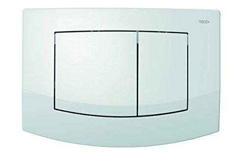 Tece Teceambia-Abdeckplatte mit Betätigung 2-Mengen-Spülung, weiß, 9240200