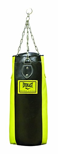 Everlast 3120UNFILLED - Saco de boxeo de 4 paneles vacío, color amari