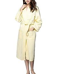 Mujer Sauna Abrigos Elegante e Esencial Largos Otoño In vierno Cómodo Suave Albornoz Manga Larga V