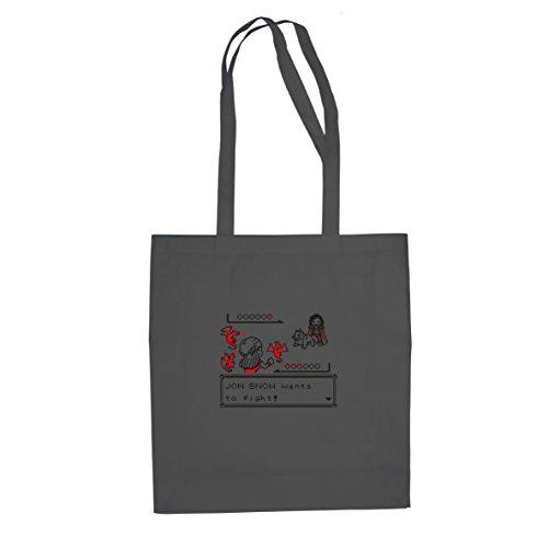 GoT: Retro Game - Stofftasche / Beutel, Farbe: grau (Das Lied Von Eis Und Feuer Buch Set)