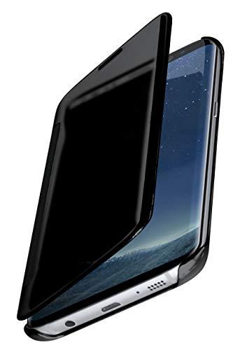 moex Samsung Galaxy S8 | Hülle Transparent TPU Void Cover Dünne Schutzhülle Anthrazit Handyhülle für Samsung Galaxy S8 Case Ultra-Slim Handy-Tasche mit Sicht-Fenster