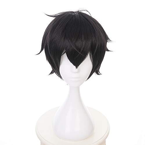 Preisvergleich Produktbild MUZI WIG Anime Cosplay Perücke für Akira Kurusu Kunsthaar Perücken von Persona 5 mit Free Wig Cap