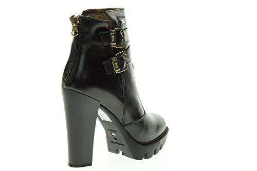 BLACK JARDINS bottes femme de la cheville avec des hauts talons A616503D / 100 Nero