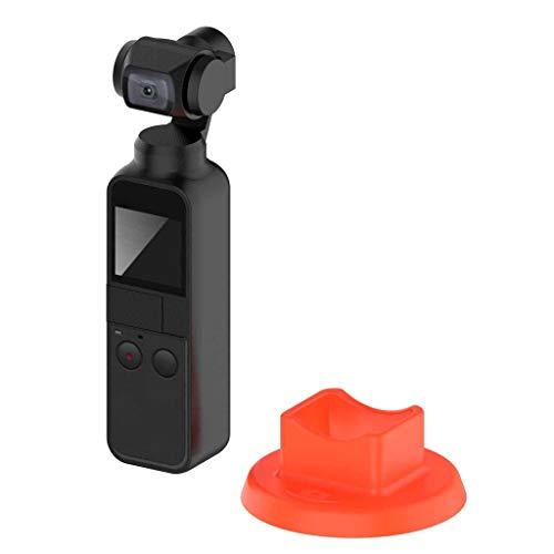 Universal-tisch-basen (Janly Adapter Stabilisator Base,Handheld Stabilizer Base Holder Ständer Silikon Halterung für DJI OSMO Pocket (Orange))