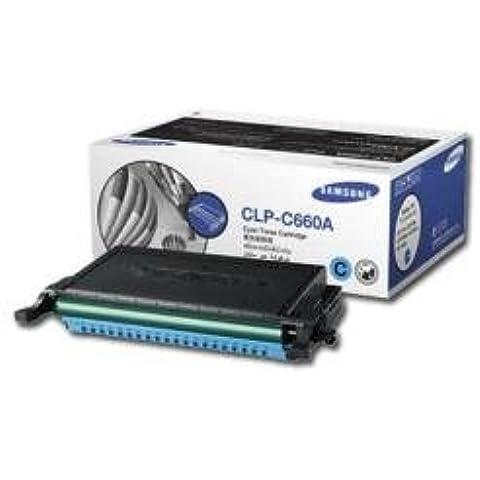 Cyan Cartucho de tóner estándar - Rendimiento: 2000 - Compatible con: CLP-610ND CLP-660N / ND