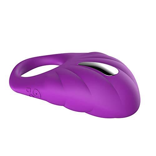 Penisring-Vibrator für Männer, 100{641e2bcd34a74f1e8fe091ba69267b01d2f323eb63131d35123c7c441f6cd99e} wasserdichter Silikon-Dildo-Ring mit Klitoris-Stimulator, erwachsenes Sexspielzeug für Männer und Paare