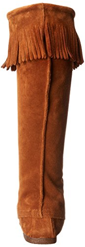 Minnetonka Front Lace Hardsole Knee Hi, Bottes Indiennes Homme Marron (Brown)