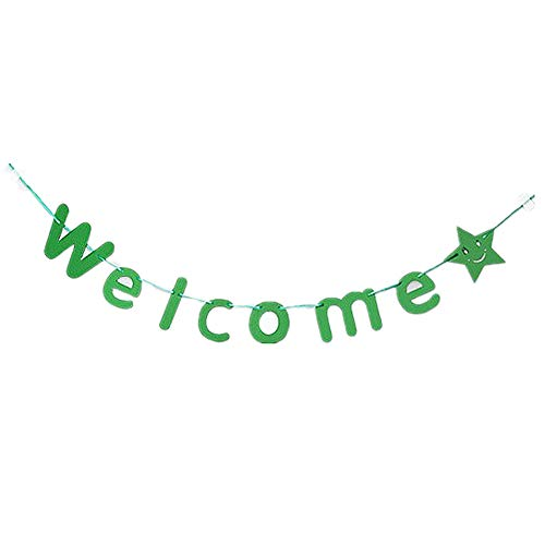 korationen Bunting Dekoration Sparkling Star Garland Für Party Banner Bunting Green ()