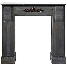 mobili rebecca marco de chimeas falsa chimenea de madera decoracon shabby gris saln hogar