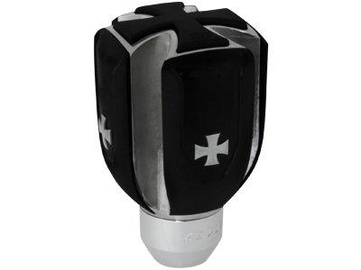 Schaltknauf Iron Cross Eisernes Kreuz Universal Schaltknauf Schwarz Manuell 4 5 6 Gang Schalthebel mit 2 Adaptern ohne RGA