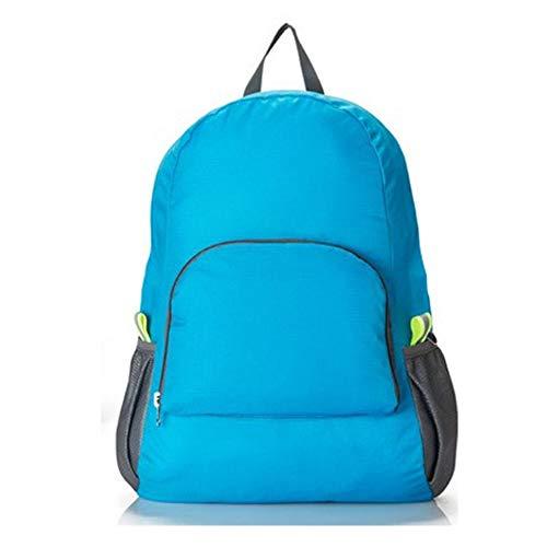Zaino portatile ultraleggero zaino da viaggio resistente all'acqua zaino pieghevole spazioso escursionismo campeggio daypack per le donne kids blue