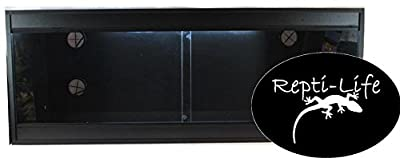 Repti-Life 48x24x24 Inch Vivarium Flatpacked In Black, 4ft Viv from Repti-Life