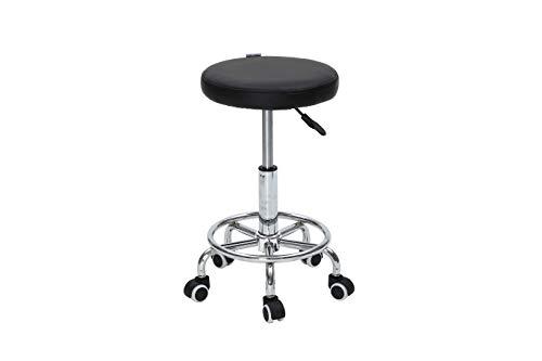 Mari lifestyle sgabello professionale per massaggi alzata a gas | design leggero e ortopedico | imbottitura in schiuma 5 cm | sedile girevole e altezza regolabile | dimensioni: 33x33x46.5-61 cm