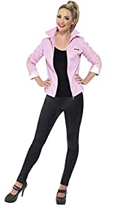 Smiffys Licenciado Oficialmente Cazadora Deluxe de Las Pink Ladies de Grease, Rosa, con Cazadora e Insignias
